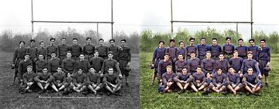 Sports Paintings - Vancouver College Canadian Football Team 1933  by Artistic Panda