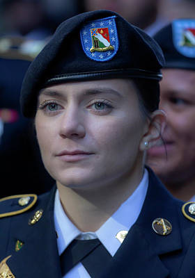 Photograph - Veterans Day Parade Nyc 11_10_2018 Female Cadet by Robert Ullmann