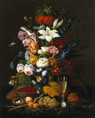 Painting - Victorian Bouquet by Severin Roesen
