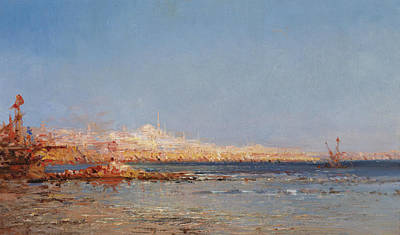 Painting - View Of Constantinople by Felix Ziem