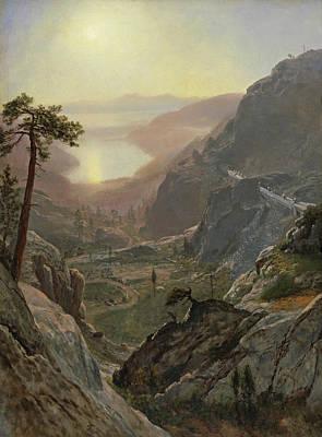 Painting - View Of Donner Lake by Albert Bierstadt