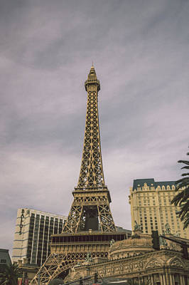 Photograph - View On The Replica Of Eiffel Tower At Paris Hotel  by Alex Grichenko