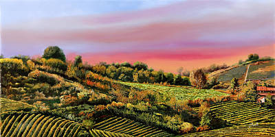 Wine Down Royalty Free Images - Vigne Allalba Royalty-Free Image by Guido Borelli