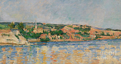 Painting - Village At The Waters Edge by Paul Cezanne