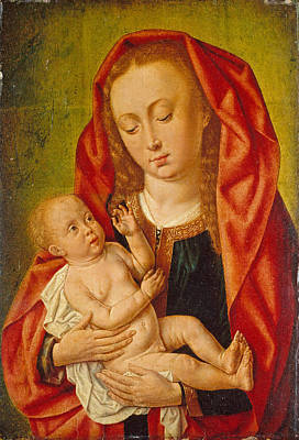 Painting - Virgin And Child With A Dragonfly by Master of Saint Giles