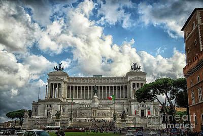 Photograph - Vittorio Emanuele II Monument Rome Italy by Wayne Moran