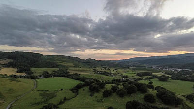 Photograph - Wales Uk Sunset By Drone  by John McGraw