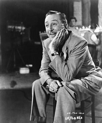 Photograph - Walt Disney by Hulton Archive