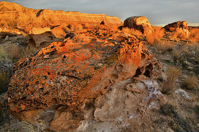 Photograph - Warm Evening Light On Book Cliffs by Ray Mathis