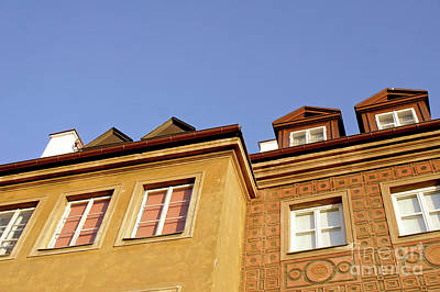 Attic Wall Art - Photograph - Warsaw Old Town Buildings by Tom Gowanlock