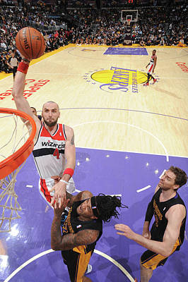 Photograph - Washington Wizards V Los Angeles Lakers by Andrew D. Bernstein