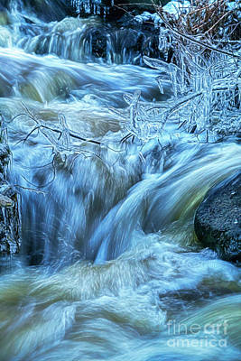 Mixed Media Royalty Free Images - Water and Ice 2 Royalty-Free Image by Veikko Suikkanen