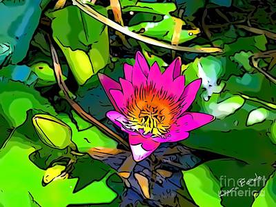Digital Art - Water Lily by Laura Forde