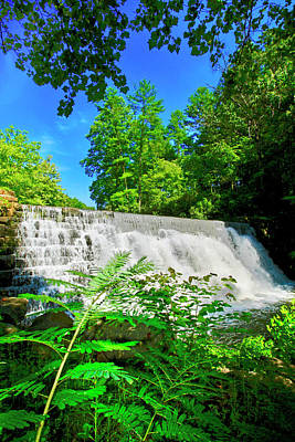 Photograph - Waterfall Over Weir Dam Blue Ridge Parkway Virginia by The American Shutterbug Society