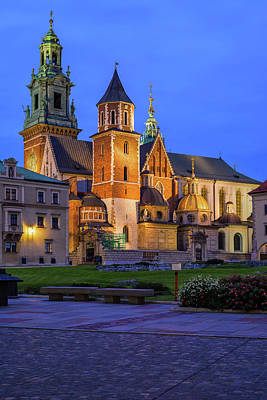 Photograph - Wawel Cathedral At Night In Krakow by Artur Bogacki