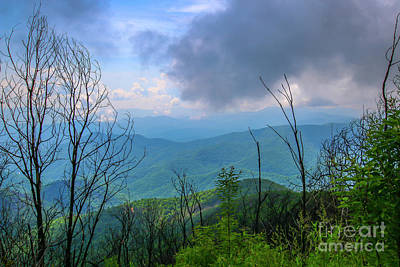 Photograph - Wayah Bald Mountain View by Tom Claud
