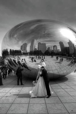 Photograph - Wedding At The Bean by Jeffrey PERKINS