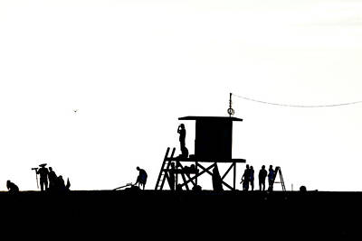 Photograph - Wedge Silhouettes by Sean Davey