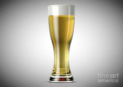 Beer Royalty-Free and Rights-Managed Images - Weizen Beer Pint by Allan Swart