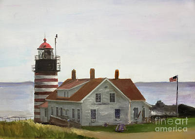 Painting - West Quoddy Head Lighthouse by Donna Walsh