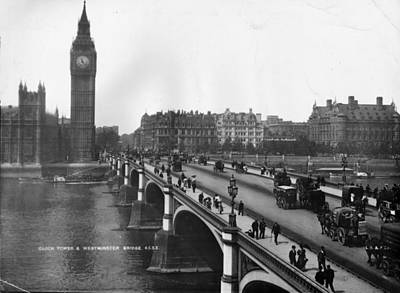 Westminster Bridge Art Print by London Stereoscopic Company
