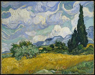 Up Up And Away - Wheat Field with Cypresses 1889 by Vincent van Gogh