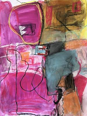 Painting - When Love Walks In The Room Everybody Stand Up by Christine Zmuda