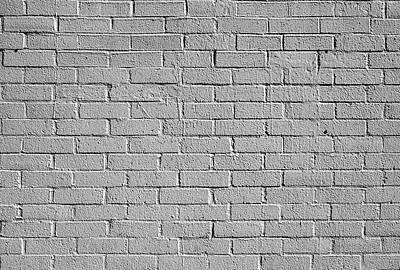 Photograph - White Brick Wall by Robert Ullmann
