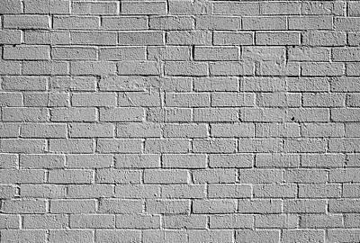 Photograph - White Brick Wall by Robert Ullmann