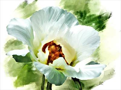 Painting - White Peony by Diane Chandler