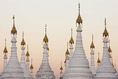 Photograph - White Stupas At Kuthodaw Pagoda by Mint Images - Art Wolfe