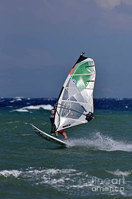 Photograph - Windsurfing On A Windy Day by George Atsametakis