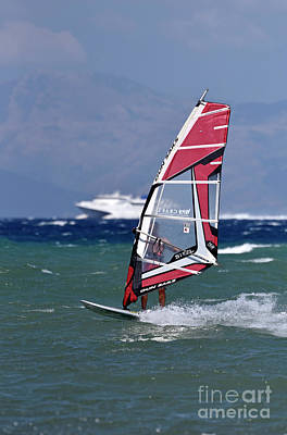 Photograph - Windsurfing On A Windy Day I by George Atsametakis