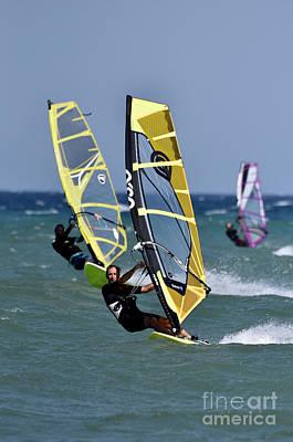 Photograph - Windsurfing On A Windy Day IIi by George Atsametakis