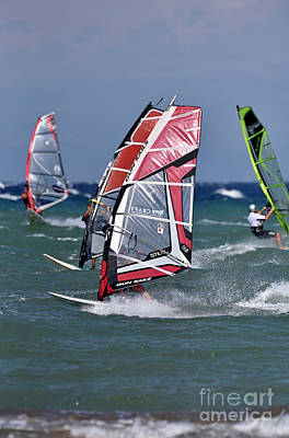 Photograph - Windsurfing On A Windy Day Iv by George Atsametakis