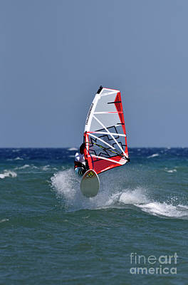 Photograph - Windsurfing On A Windy Day V by George Atsametakis