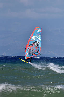 Photograph - Windsurfing On A Windy Day Vi by George Atsametakis