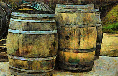Photograph - Wine Trail Wine Barrels Detail  by Floyd Snyder