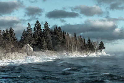 Lake Superior Wall Art - Photograph - Winter Blues II by Mary Amerman