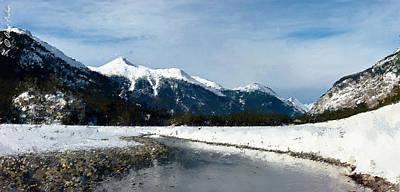 Photograph - Winter Creek by Alexander Fedin