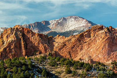 Photograph - Winter Garden Of The Gods Colorado by Steve Krull