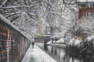 Photograph - Winter In Gas Street by Chris Fletcher