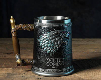 Photograph - Winter Is Coming Tankard From Game Of Thrones Series by Steven Heap