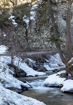 Photograph - Winter Mountain Creek by Michael Chatt