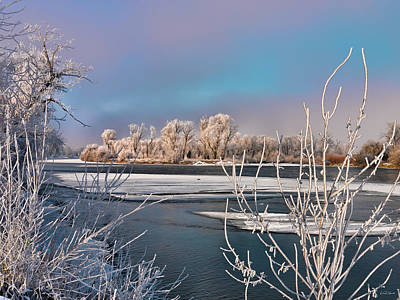 Photograph - Winter River Light by Leland D Howard