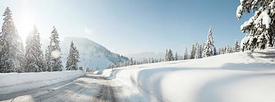Photograph - Winter Road In Snow-covered Landscape by Hannah Bichay