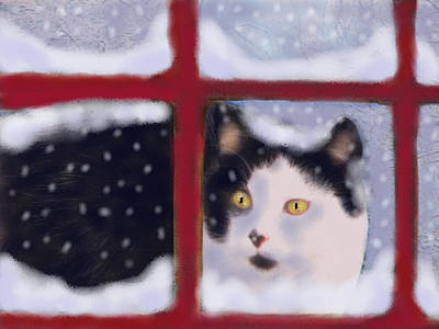 Painting - Out In A Winter Storm by Angela Davies