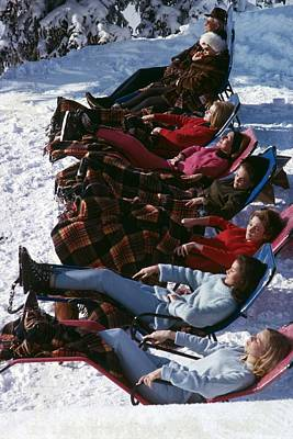 Enjoyment Photograph - Winter Suntans by Slim Aarons