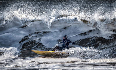 Photograph - Winter Surfing by David Kay