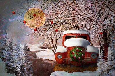 Photograph - Winter Wonderland Painting by Debra and Dave Vanderlaan